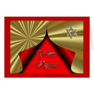 Yom Kippur Jewish Holiday Fasting Judaism Holy Day Card