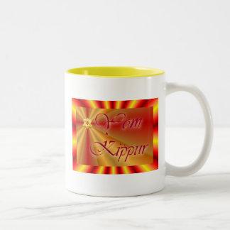 Yom Kippur Jewish Holiday Fasting Judaism Holy Day Two-Tone Coffee Mug