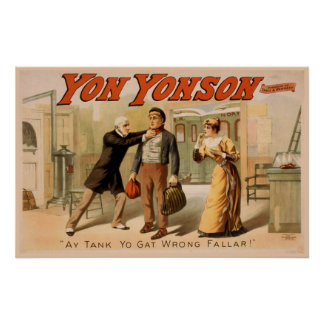 """""""Yon Yonson"""" Vintage Theater Poster"""