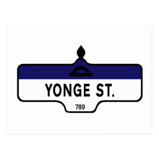 Yonge Street, Toronto Street Sign Postcard