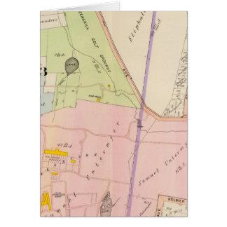 Yonkers New York Atlas Map Card