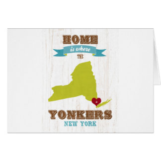 Yonkers, New York - Home is Where. Card