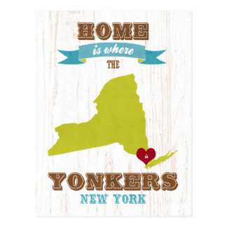 Yonkers, New York - Home is Where. Postcard