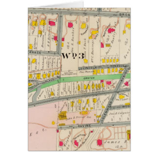 Yonkers NY Map Card