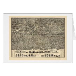 Yonkers, NY Panoramic Map - 1899 Card