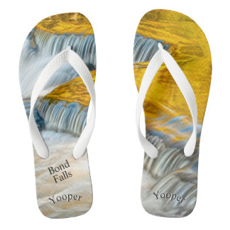 Yooper Bond Falls Fall Colors Nature Photography Flip Flops