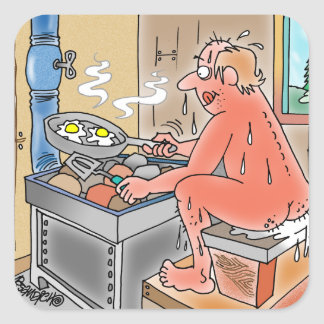 YOOPER FRIES EGGS ON A SAUNA STOVE STICKERS
