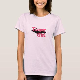 """Yooper Girl"" Upper Peninsula Michigan Pink tshirt"