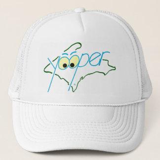 YOOPER HAT, WHITE TRUCKER HAT