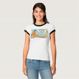 Yooper Ladies Pasty Cartoon T-shirt