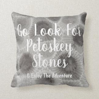 Yooper Petoskey Stone Throw Pillow