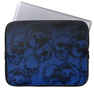 Yorick's Skull Creepy Abstract Laptop Sleeve