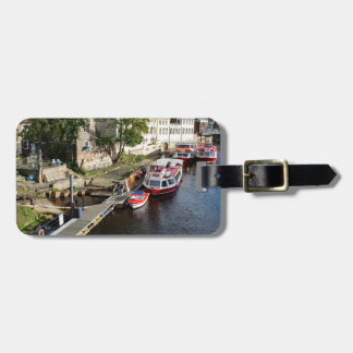 York City Guildhall and red boats Bag Tag