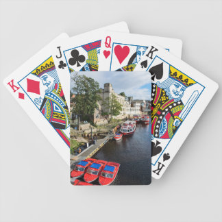 York City Guildhall and red boats Bicycle Playing Cards