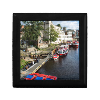 York City Guildhall and red boats Gift Box