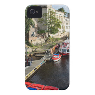 York City Guildhall and red boats iPhone 4 Case-Mate Cases