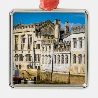 York City Guildhall river Ouse Silver-Colored Square Ornament