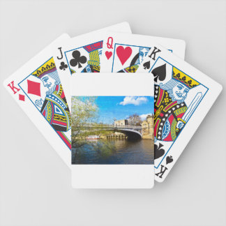 York City Lendal bridge with textured background Bicycle Playing Cards