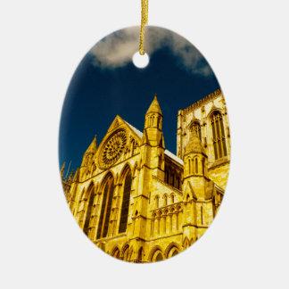 York city Minster enhanced Ceramic Ornament