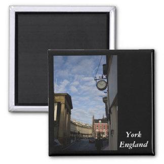 York, England Square Magnet