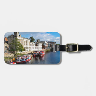 York Guildhall and river Ouse Bag Tag