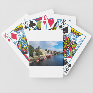 York Guildhall and river Ouse Bicycle Playing Cards