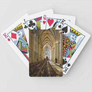 York Minster from inside. Poker Deck