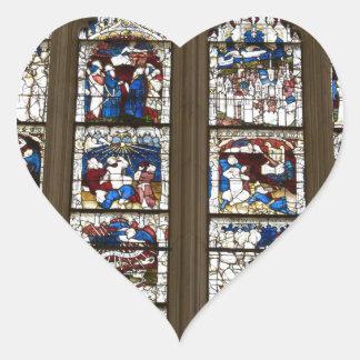 York Minster Great East Window. Heart Sticker