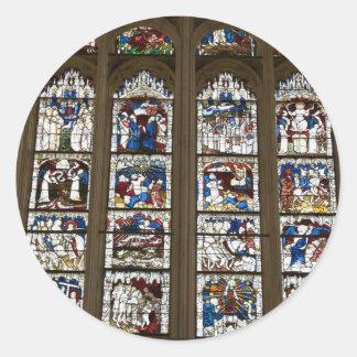 York Minster Great East Window. Round Sticker