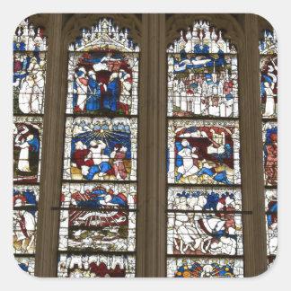 York Minster Great East Window. Square Sticker