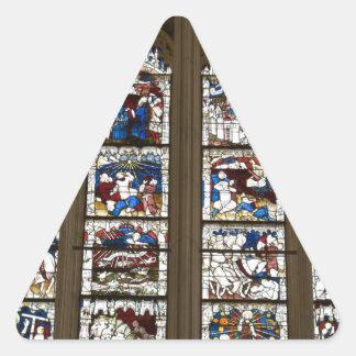 York Minster Great East Window. Triangle Sticker