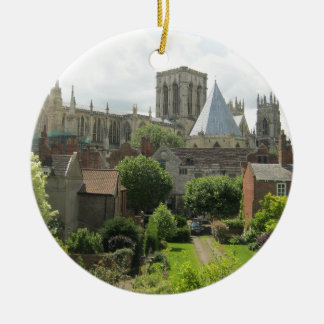 York Minster in the Morning Round Ceramic Ornament