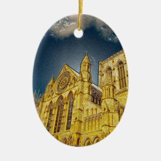 York Minster special effect Ceramic Ornament