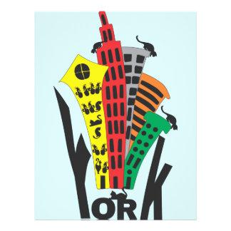 York one customized letterhead