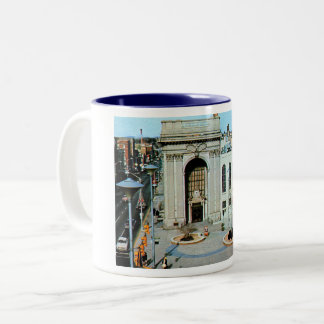 York, Pennsylvania, Continental Square, Vintage Two-Tone Coffee Mug