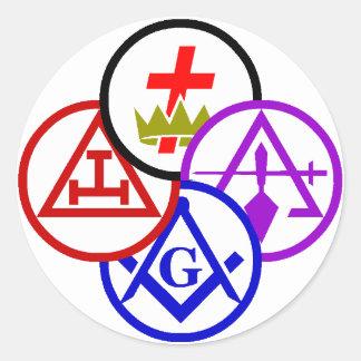 York Rite Bodies Pinwheel Logo Sticker