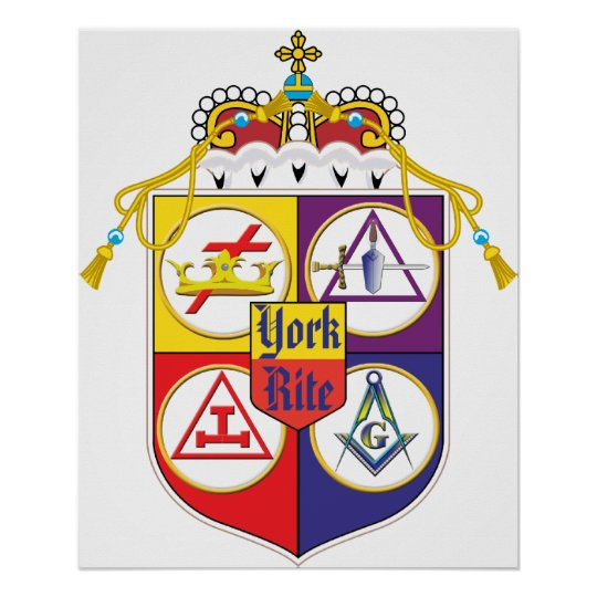 York Rite Shield Poster