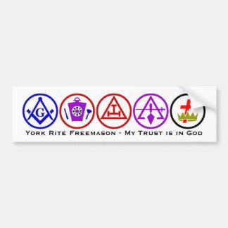 York Rite Trust in God Car Bumper Sticker