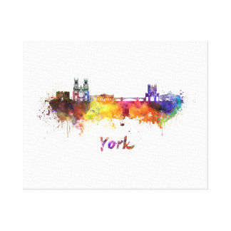 York skyline in watercolor canvas print