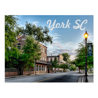 york south carolina postcard