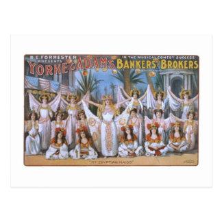 Yorke & Adams Bankers Brokers Vintage Theater Post Postcard