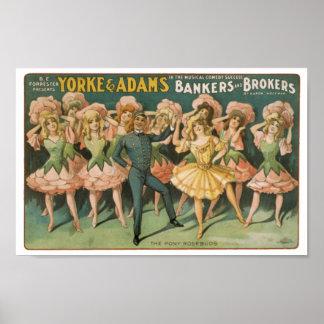 Yorke et boulangers et courtiers d'Adams les bouto Poster