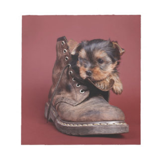 Yorkie and boot notepad