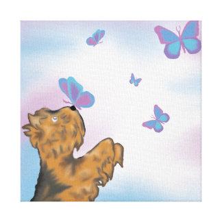 Yorkie and Butterflies Original Art Print