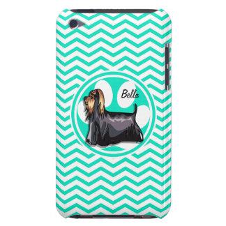 Yorkie Aqua Green Chevron iPod Case-Mate Case