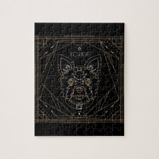 Yorkie Art Deco Zodiac Jigsaw Puzzle
