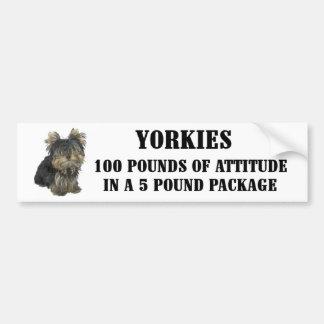Yorkie Attitude Bumper Sticker