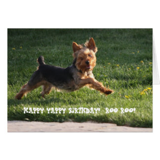 YORKIE BIRTHDAY CARD