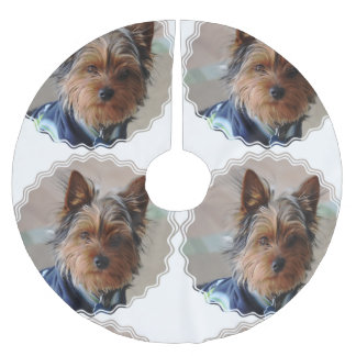 Yorkie Brushed Polyester Tree Skirt
