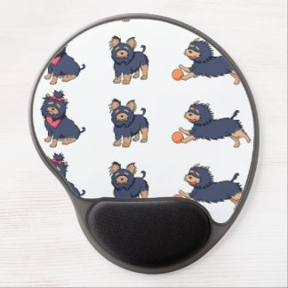 yorkie cartoons 2 gel mouse pad
